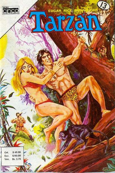 Cover for Tarzan (Editora Cinco, 1983 series) #13