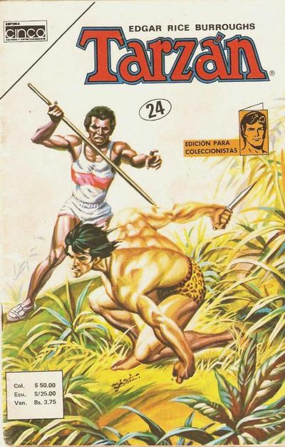 Cover for Tarzan (Editora Cinco, 1983 series) #24