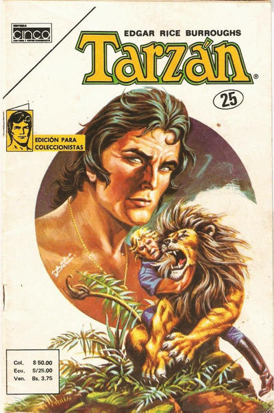 Cover for Tarzan (Editora Cinco, 1983 series) #25