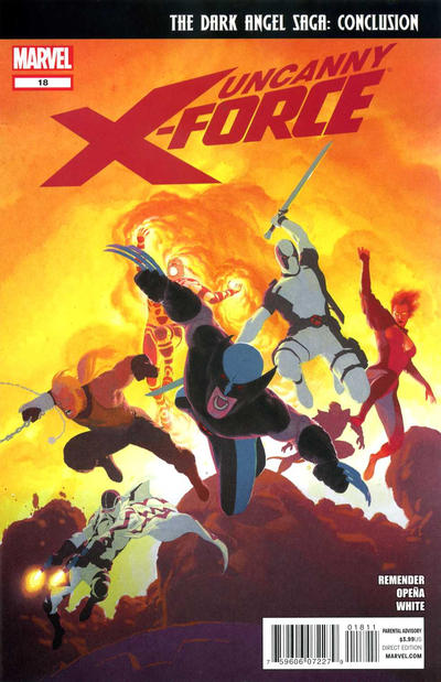 Cover for Uncanny X-Force (Marvel, 2010 series) #18 [Spoiler Variant Cover]