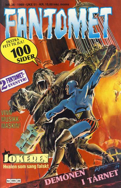 Cover for Fantomet (Semic, 1976 series) #26/1989