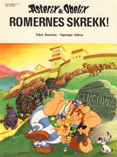 Cover for Asterix (Hjemmet / Egmont, 1969 series) #7 - Romernes skrekk! [2. opplag]