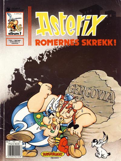 Cover for Asterix (Hjemmet / Egmont, 1969 series) #7 - Romernes skrekk! [5. opplag]