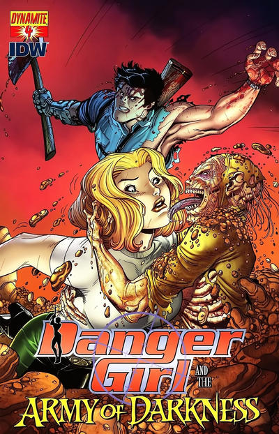 Cover for Danger Girl and the Army of Darkness (Dynamite Entertainment, 2011 series) #4 [Paul Renaud Cover]