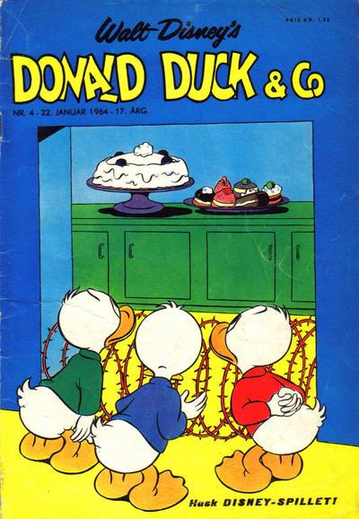 Cover for Donald Duck & Co (Hjemmet / Egmont, 1948 series) #4/1964