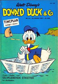 Cover Thumbnail for Donald Duck & Co (Hjemmet / Egmont, 1948 series) #34/1969