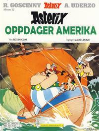 Cover for Asterix (Hjemmet / Egmont, 1969 series) #22 - Asterix oppdager Amerika [5. opplag]