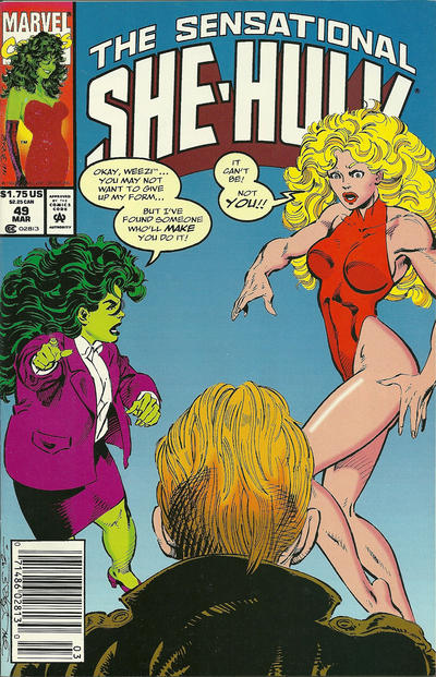 Cover for The Sensational She-Hulk (Marvel, 1989 series) #49 [newsstand]