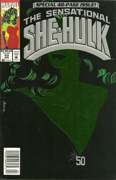 Cover for The Sensational She-Hulk (Marvel, 1989 series) #50 [direct]
