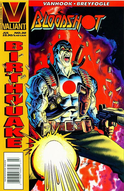 Cover for Bloodshot (Acclaim / Valiant, 1993 series) #30 [Direct Edition]