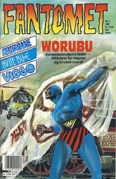 Cover for Fantomet (Semic, 1976 series) #7/1990