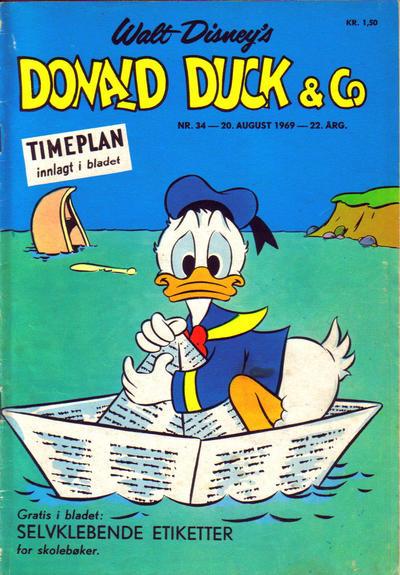 Cover for Donald Duck & Co (Hjemmet / Egmont, 1948 series) #34/1969