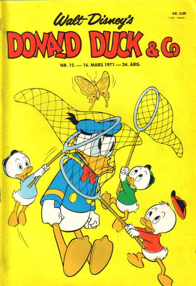 Cover for Donald Duck & Co (Hjemmet / Egmont, 1948 series) #12/1971