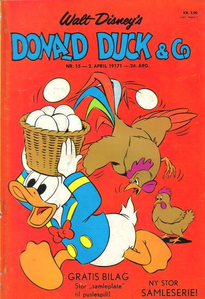 Cover for Donald Duck & Co (Hjemmet / Egmont, 1948 series) #15/1971