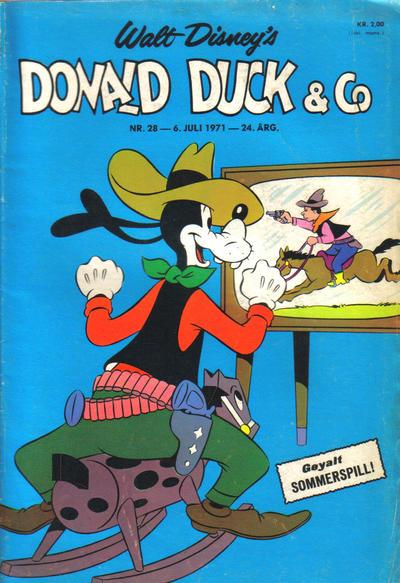 Cover for Donald Duck & Co (Hjemmet / Egmont, 1948 series) #28/1971