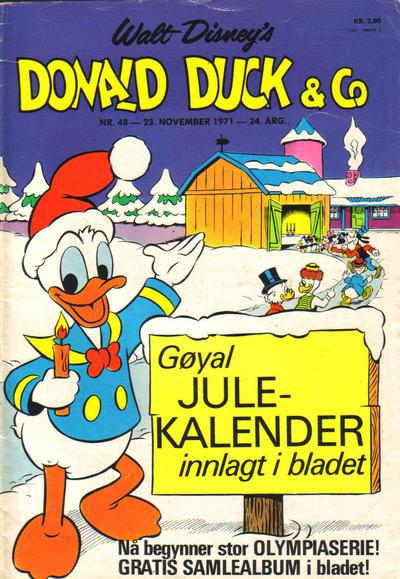 Cover for Donald Duck & Co (Hjemmet / Egmont, 1948 series) #48/1971