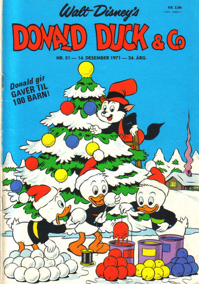 Cover for Donald Duck & Co (Hjemmet / Egmont, 1948 series) #51/1971