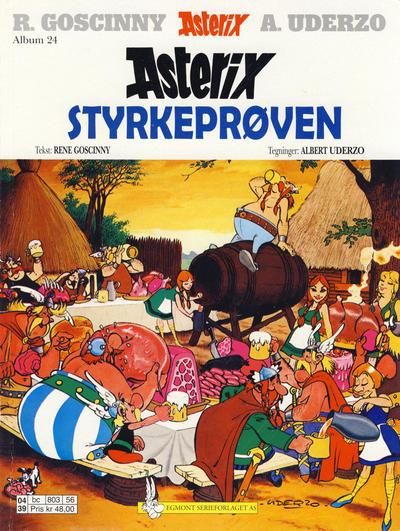 Cover for Asterix (Hjemmet / Egmont, 1969 series) #24 - Styrkeprøven [3. opplag]