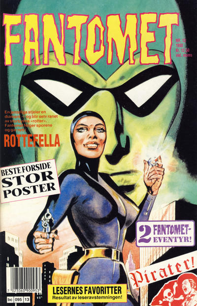 Cover for Fantomet (Semic, 1976 series) #13/1990