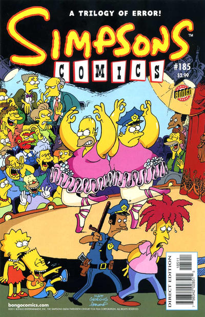 Cover for Simpsons Comics (Bongo, 1993 series) #185