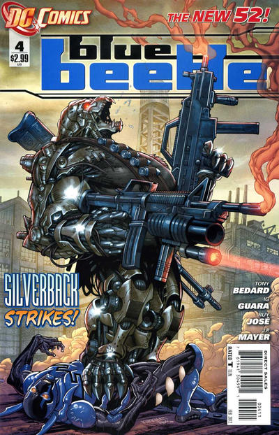 Cover for Blue Beetle (DC, 2011 series) #4
