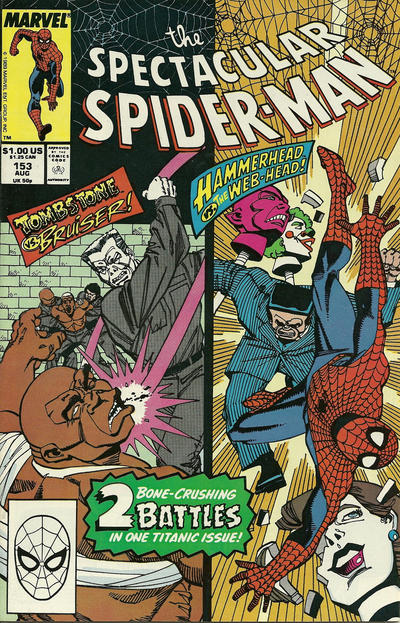 Cover for The Spectacular Spider-Man (Marvel, 1976 series) #153 [newsstand]