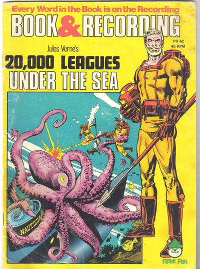 Cover for 20,000 Leagues under the Sea [Book and Record Set] (Peter Pan, 1981 series) #PR42