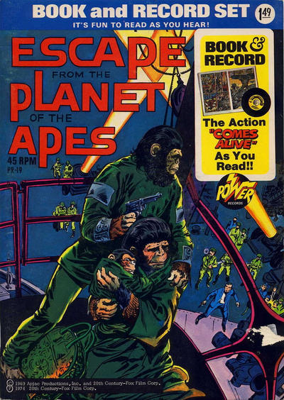 Cover for Escape from the Planet of the Apes [Book and Record Set] (Peter Pan, 1974 series) #PR-19