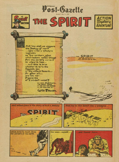 Cover for The Spirit (Register and Tribune Syndicate, 1940 series) #5/8/1949