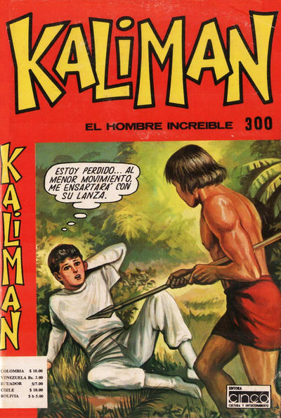 Cover for Kaliman (Editora Cinco, 1976 series) #300