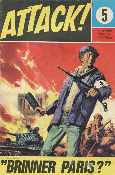 Cover for Attack (Semic, 1967 series) #5/1969