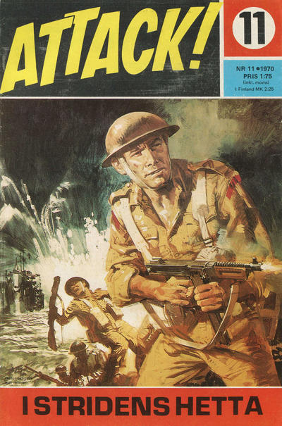 Cover for Attack (Semic, 1967 series) #11/1970