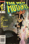 Cover Thumbnail for The New Mutants (1983 series) #25 [Newsstand Edition]