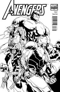 Cover Thumbnail for Avengers (Marvel, 2010 series) #17 [Architect Sketch Variant]