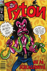 Cover for Pyton (Atlantic Förlags AB, 1990 series) #4/1992
