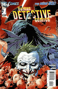 Cover Thumbnail for Detective Comics (DC, 2011 series) #1 [Second Printing]