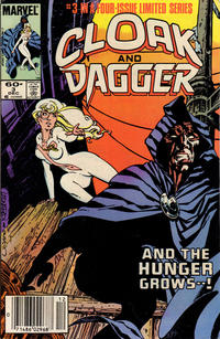 Cover Thumbnail for Cloak and Dagger (Marvel, 1983 series) #3 [Newsstand Edition]