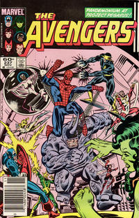 Cover Thumbnail for The Avengers (Marvel, 1963 series) #237 [Newsstand Edition]