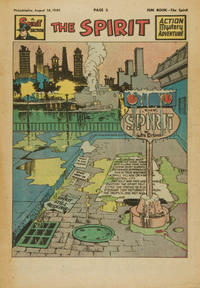 Cover Thumbnail for The Spirit (Register and Tribune Syndicate, 1940 series) #8/14/1949