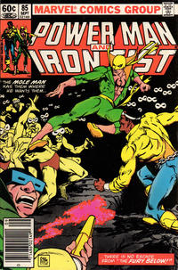 Cover for Power Man and Iron Fist (Marvel, 1981 series) #85 [Newsstand Edition]