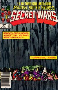 Cover for Marvel Super-Heroes Secret Wars (Marvel, 1984 series) #4 [Newsstand Edition]