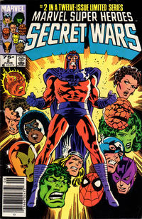 Cover for Marvel Super-Heroes Secret Wars (Marvel, 1984 series) #2 [Newsstand Edition]