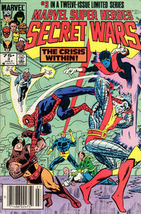 Cover Thumbnail for Marvel Super-Heroes Secret Wars (Marvel, 1984 series) #3 [Newsstand Edition]