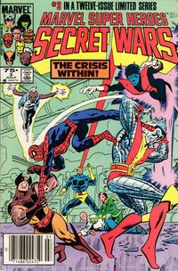 Cover for Marvel Super-Heroes Secret Wars (Marvel, 1984 series) #3 [Direct Edition]