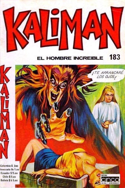 Cover for Kaliman (Editora Cinco, 1976 series) #183