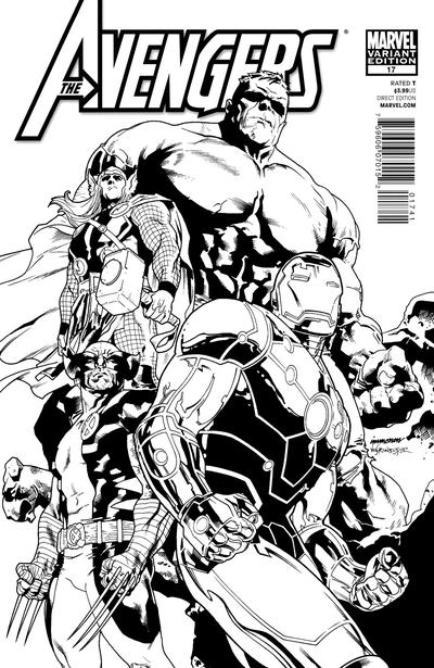 Cover for Avengers (Marvel, 2010 series) #17 [Alan Davis Cover]