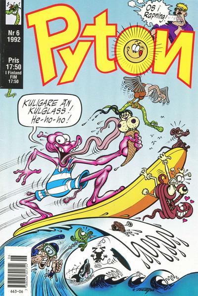 Cover for Pyton (Atlantic Förlags AB, 1990 series) #6/1992