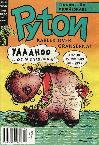 Cover for Pyton (Atlantic Förlags AB, 1990 series) #4/1995