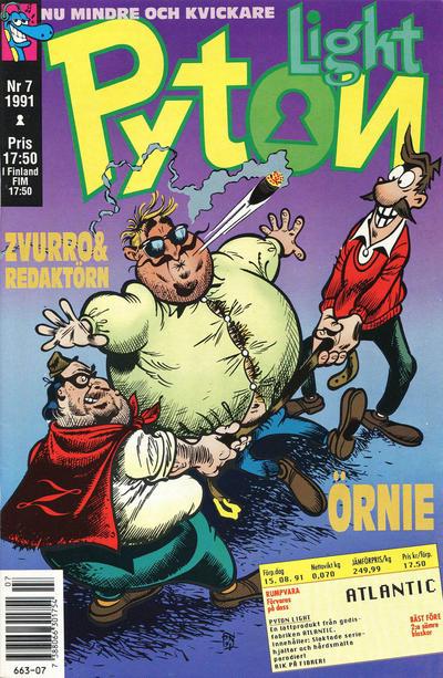 Cover for Pyton (Atlantic Förlags AB, 1990 series) #7/1991