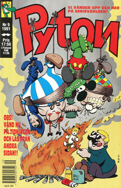 Cover for Pyton (Atlantic Förlags AB, 1990 series) #9/1991
